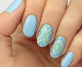 Mani Monday: Blue Ikat Nail Tutorial