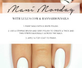 Mani Monday: White and Grey Striped Nail Tutorial