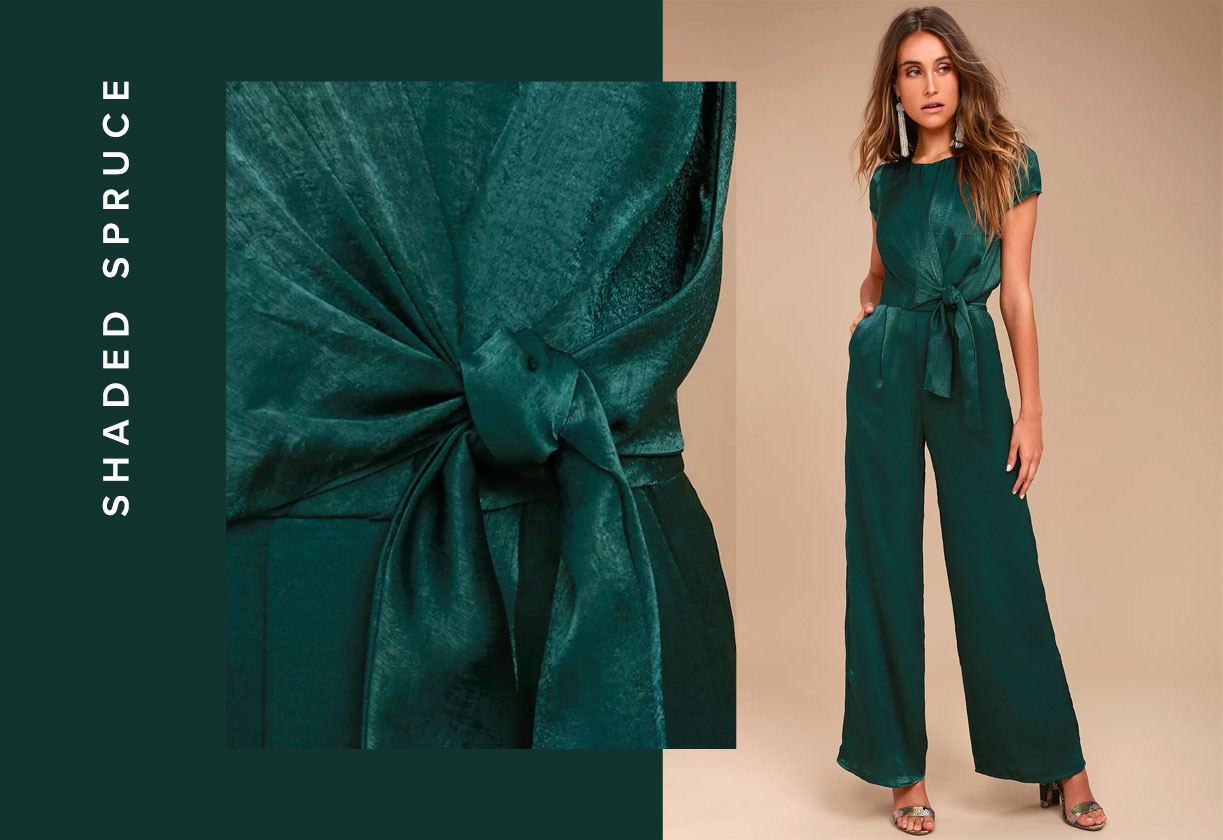fall color trends - forest green
