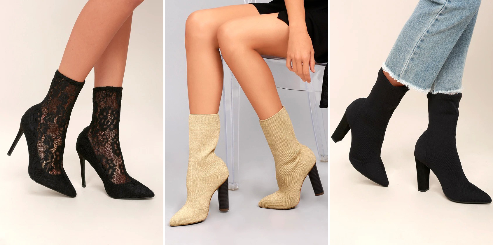 fall footwear - sock booties