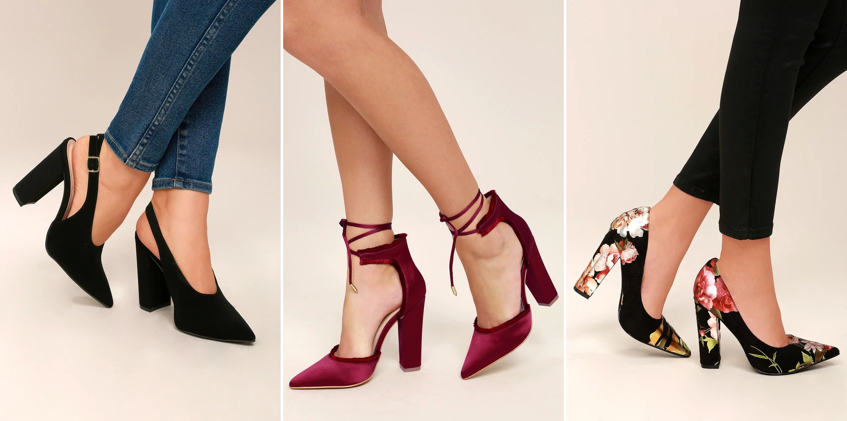 fall footwear - pointed pumps