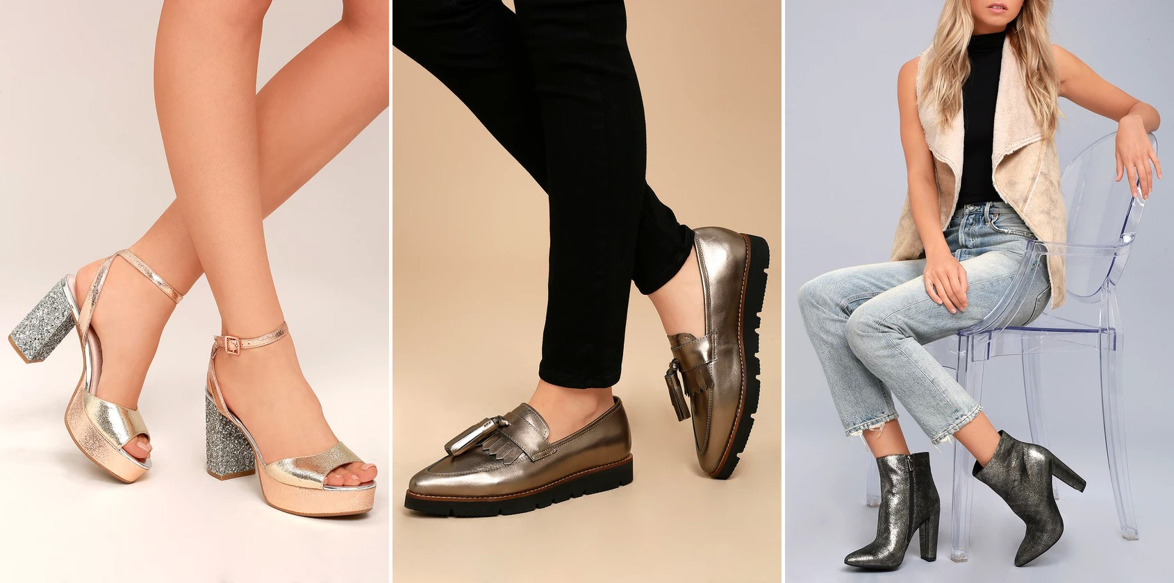 fall footwear - metallics