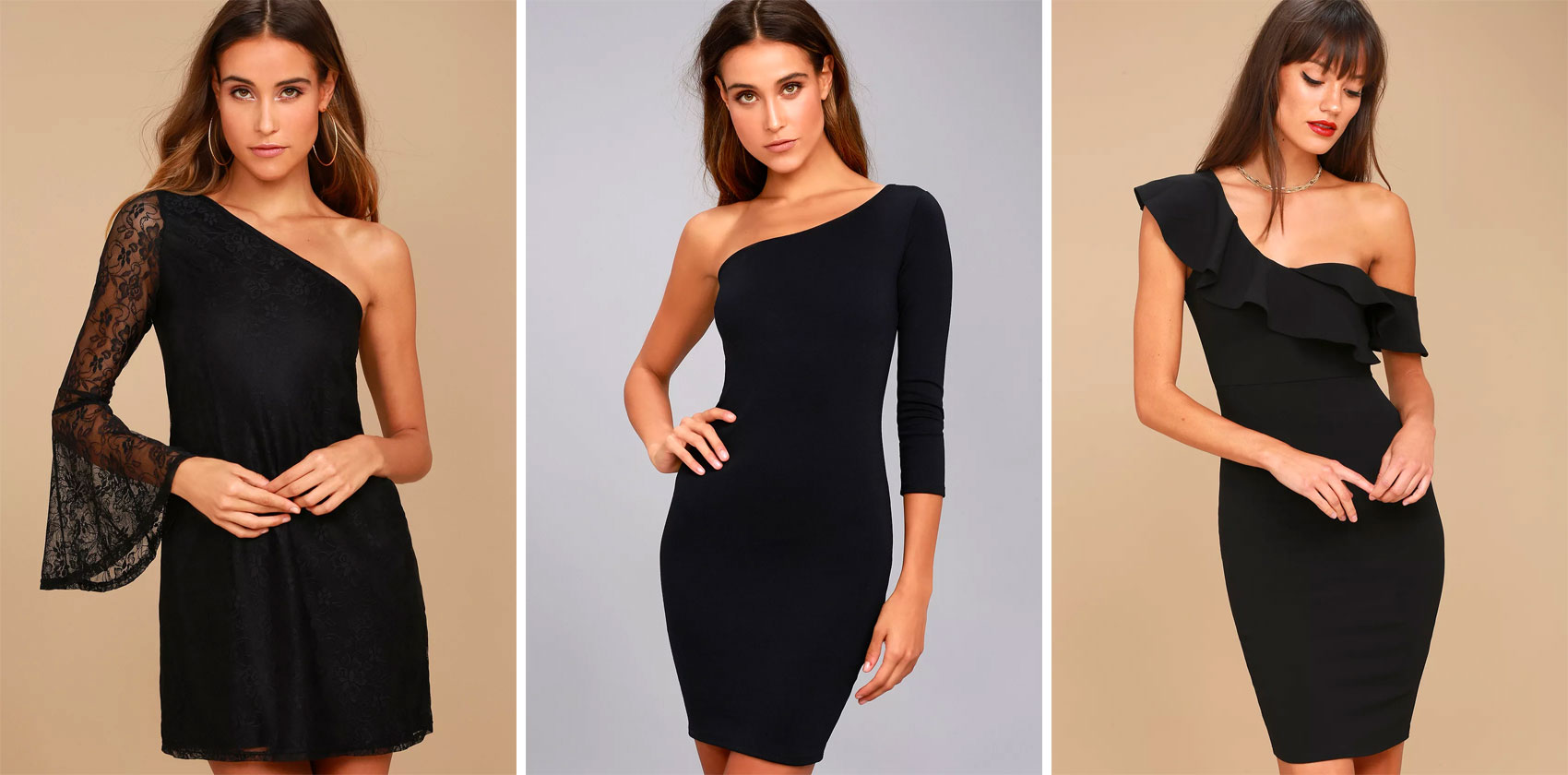 One-Shoulder Homecoming LBD