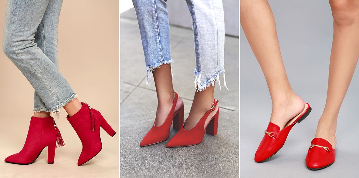 statement shoes - red