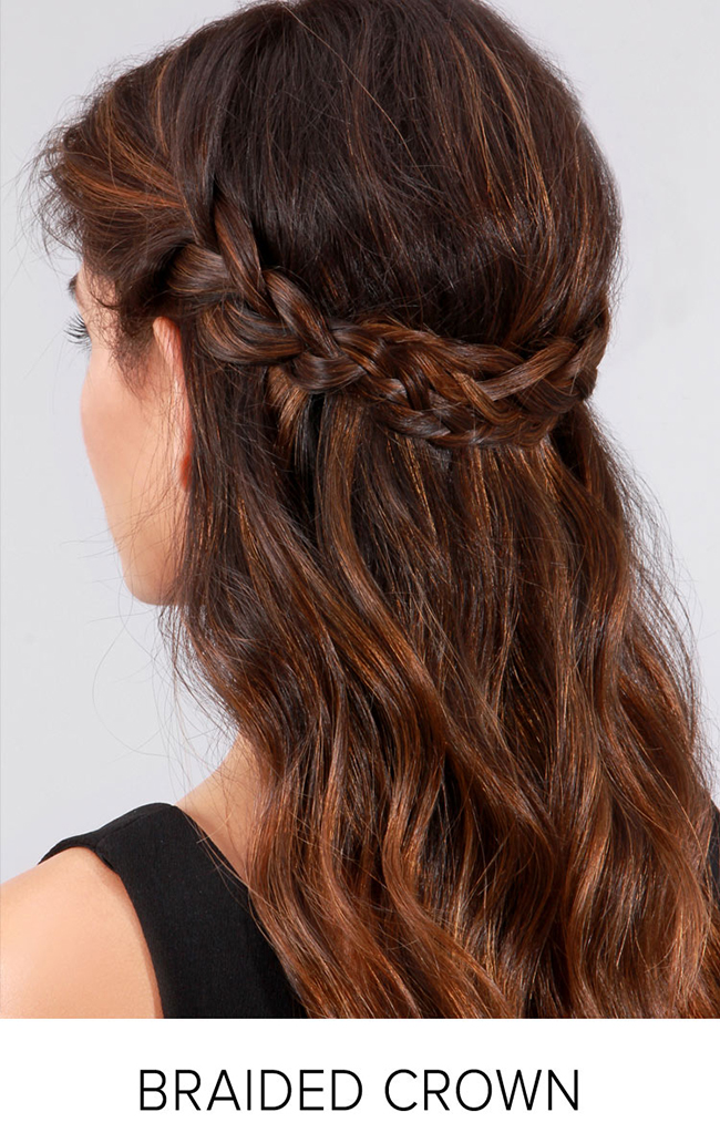 holiday hair - braided crown