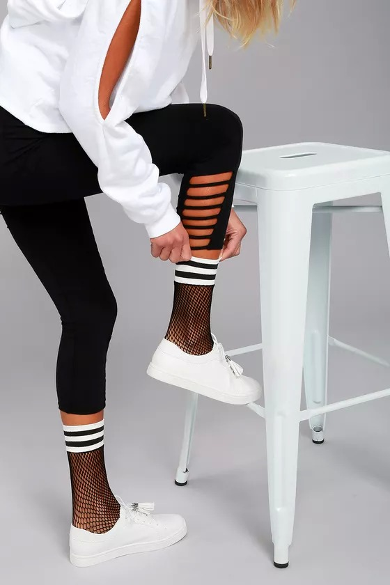 statement socks - sporty