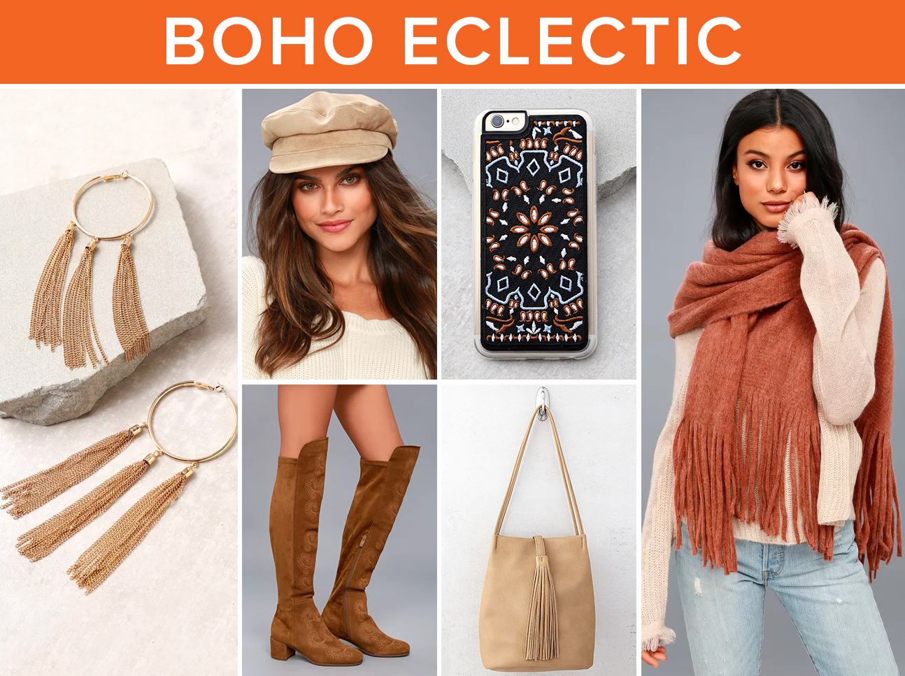winter accessories - boho