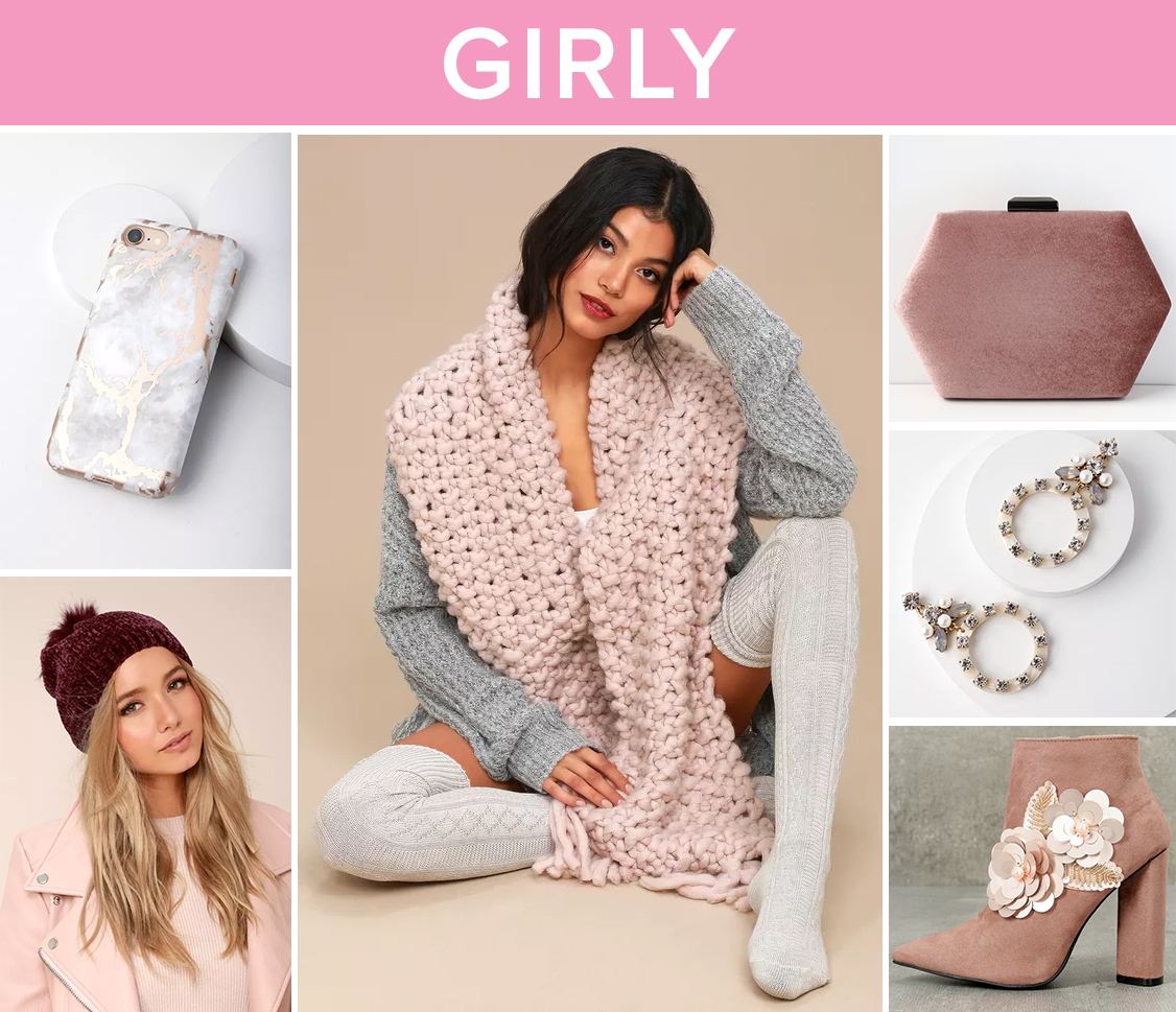winter accessories - girly