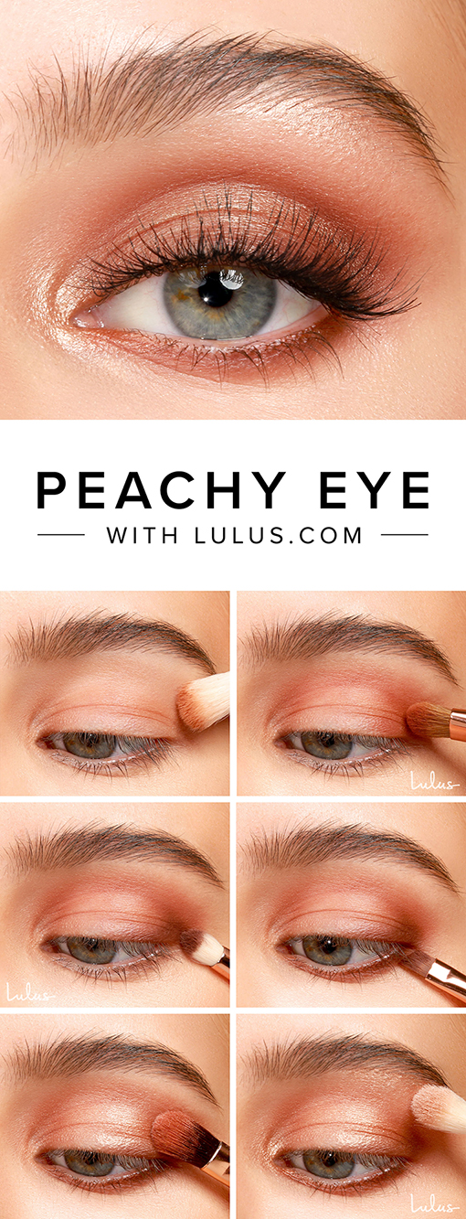 Peachy Eyeshadow Tutorial at LuLus.com!