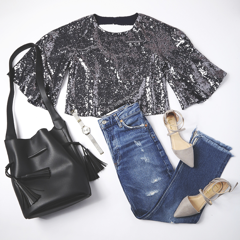 sequins for daytime - sequin top