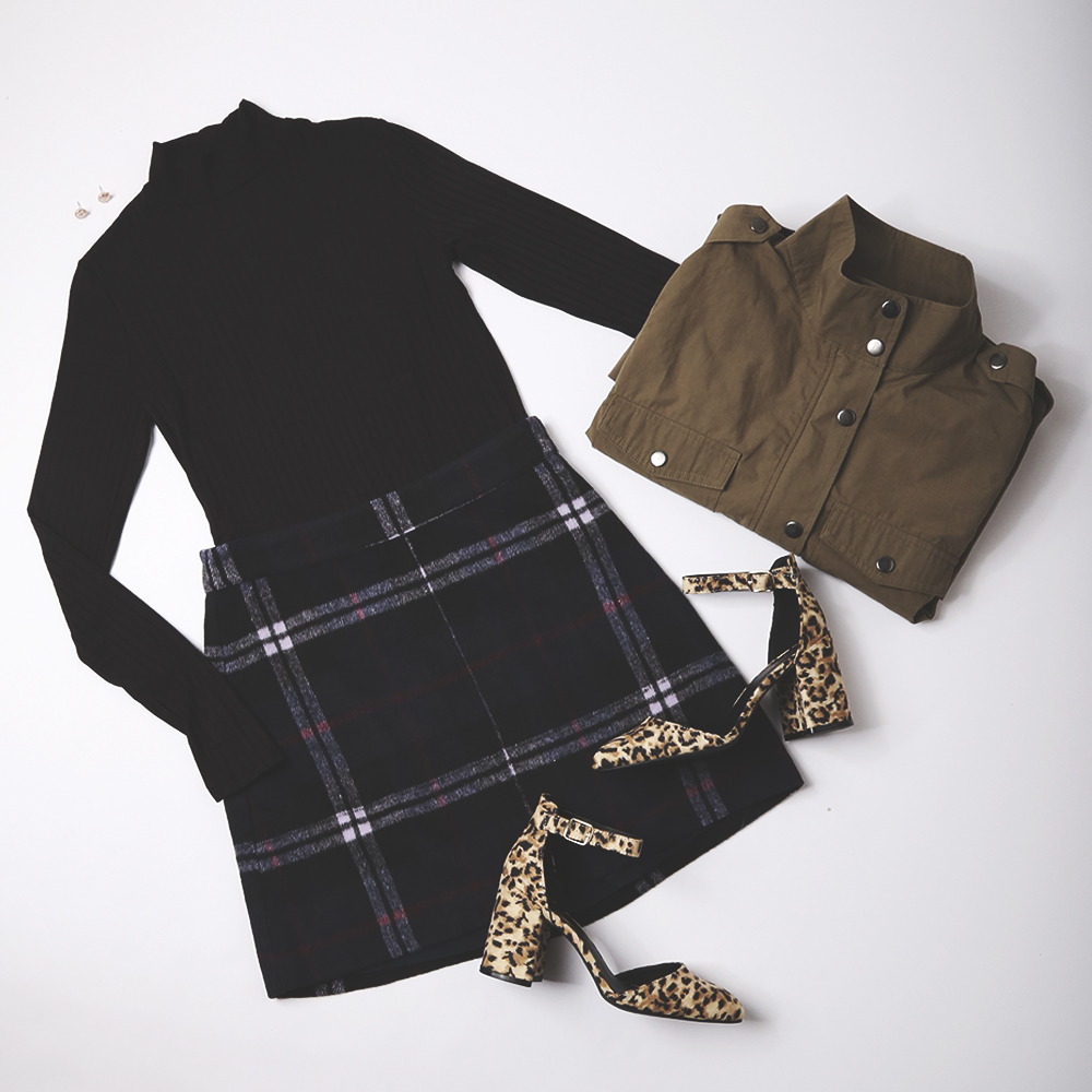 army jacket - with plaid