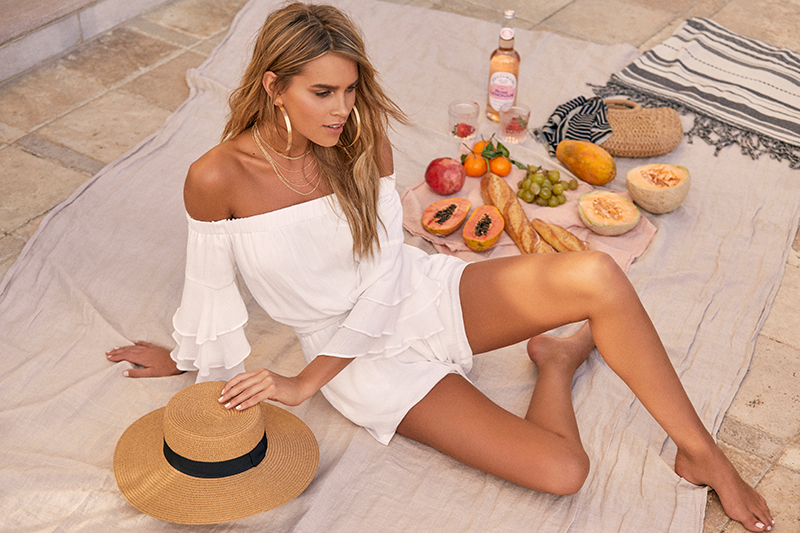 resort ready looks - white romper