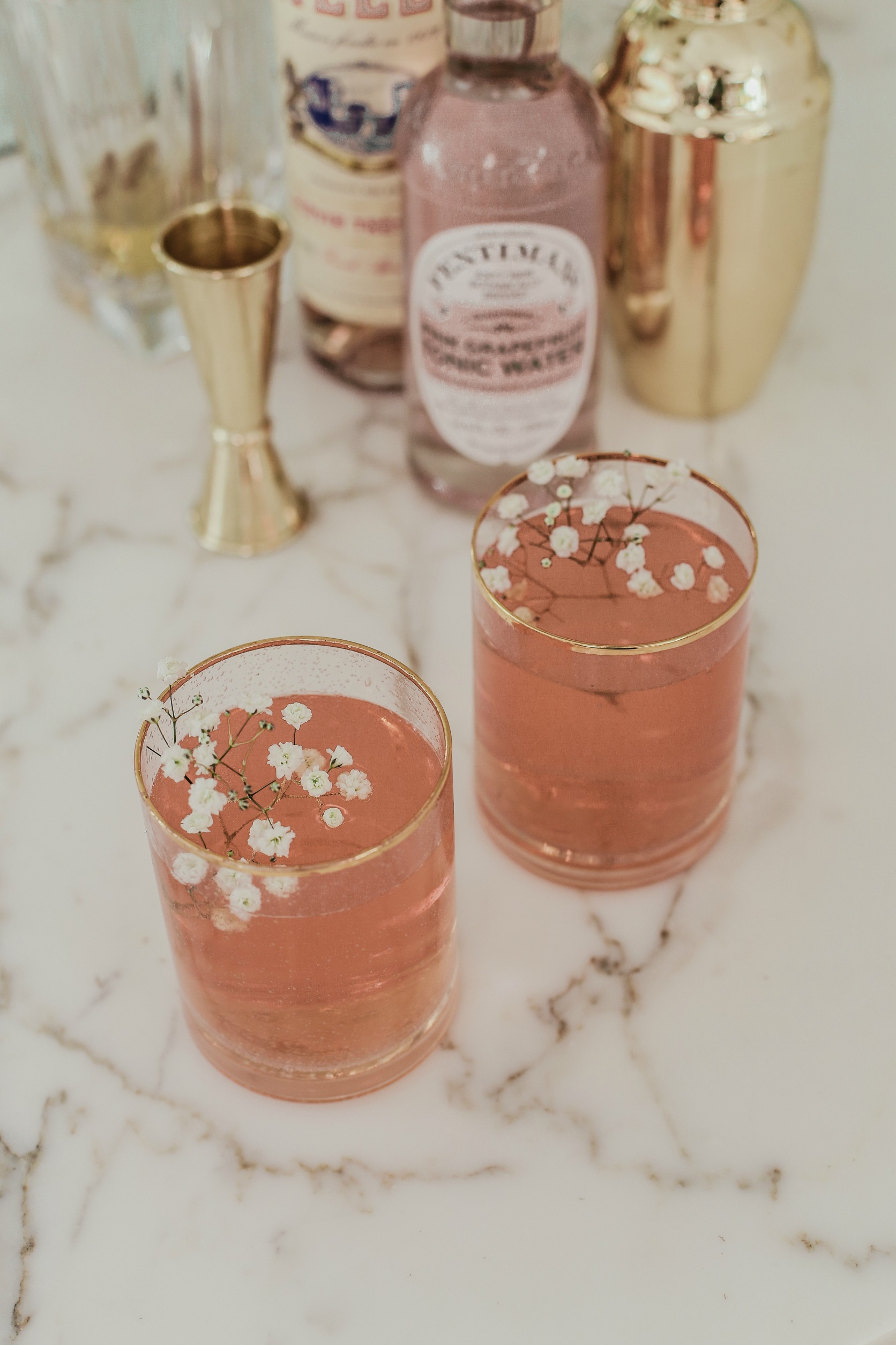 rose royale cocktail - perfect for sharing!