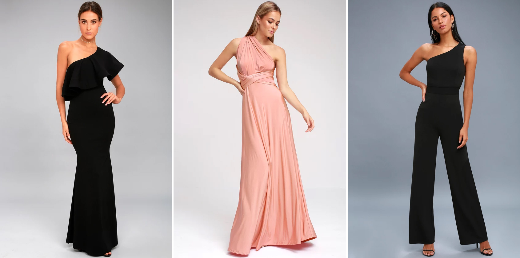 spring wedding trends - one shoulder
