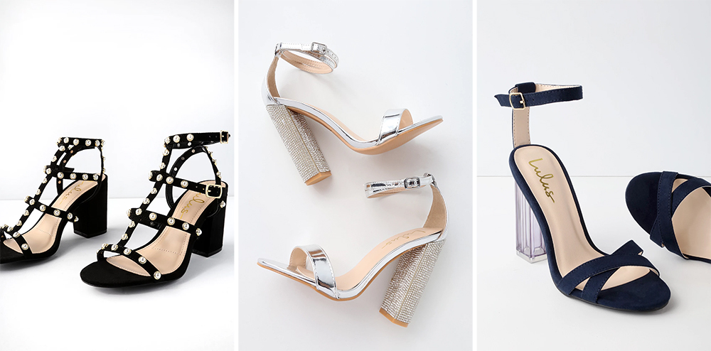 Prom Shoes - Low-Block Heels