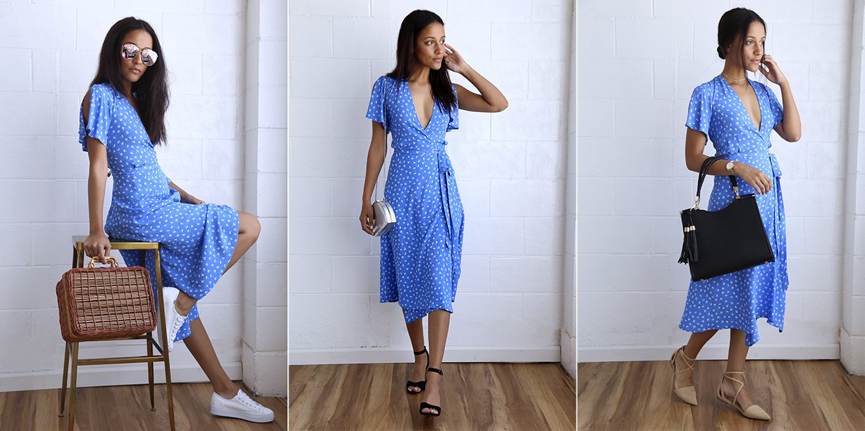 summer dresses 3 ways - wrap dress