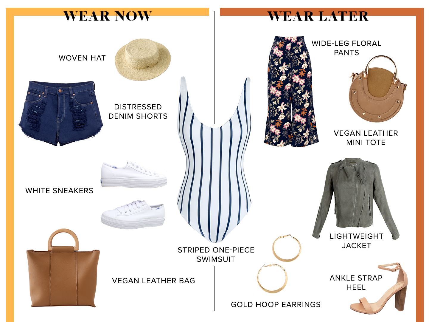 wear now and wear later - how to wear your one-piece swimsuit as a top