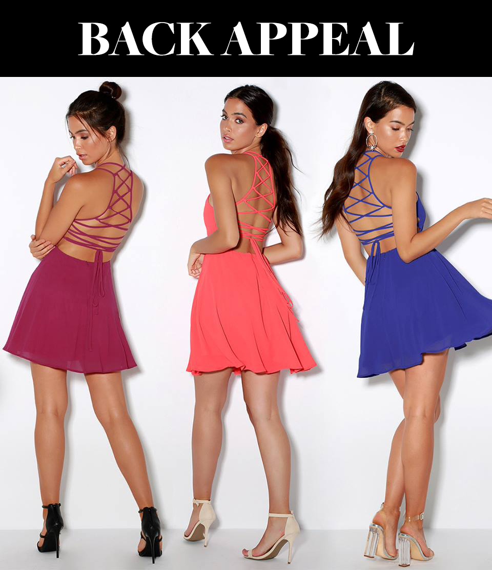 homecoming trends 2018 - backless homecoming dress