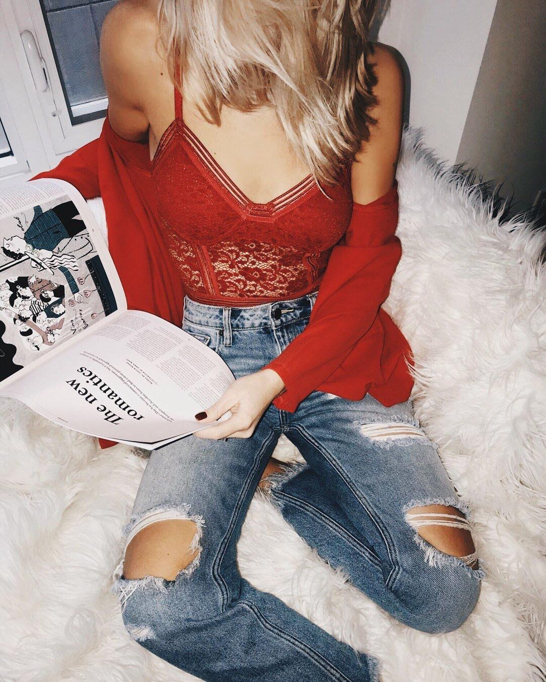 leo fall fashion trends: red