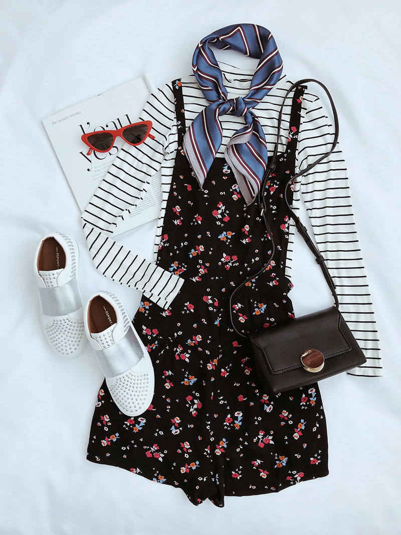 floral tailgating outfit for football games