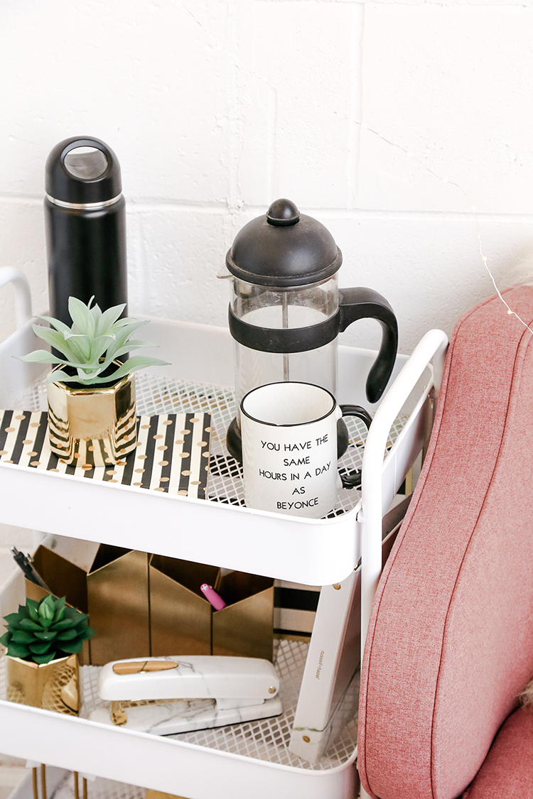 bring in coffee to make your room feel more homey