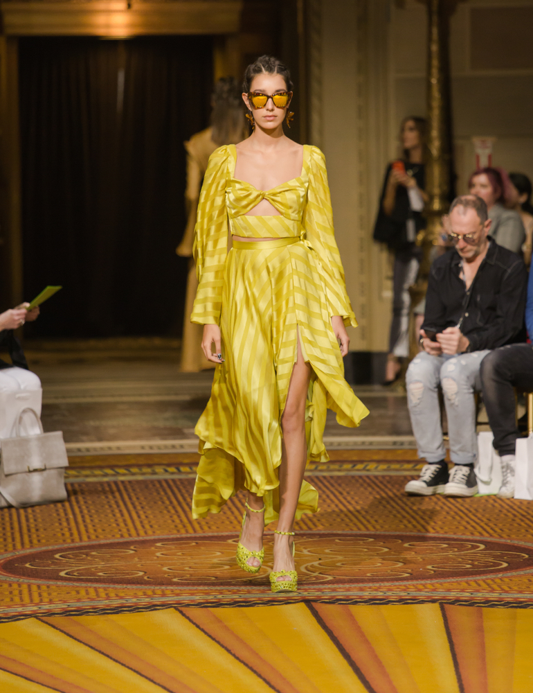 christian siriano nyfw ss19 yellow outfit