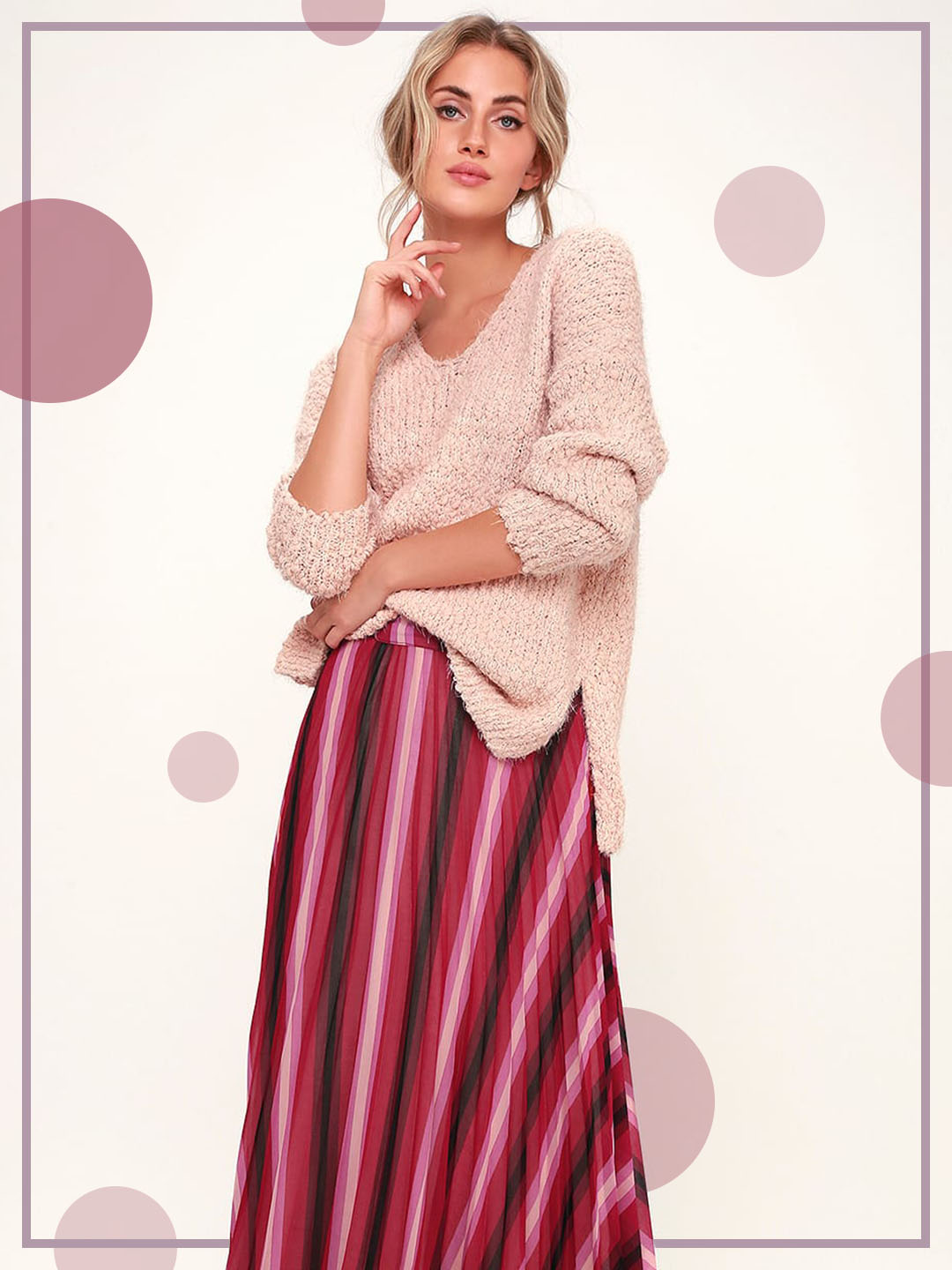 go the distance in a long skirt for fall