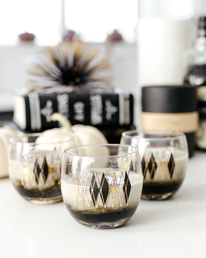add cream to your kahlua and kraken midnight magic cocktail for a sweet drink