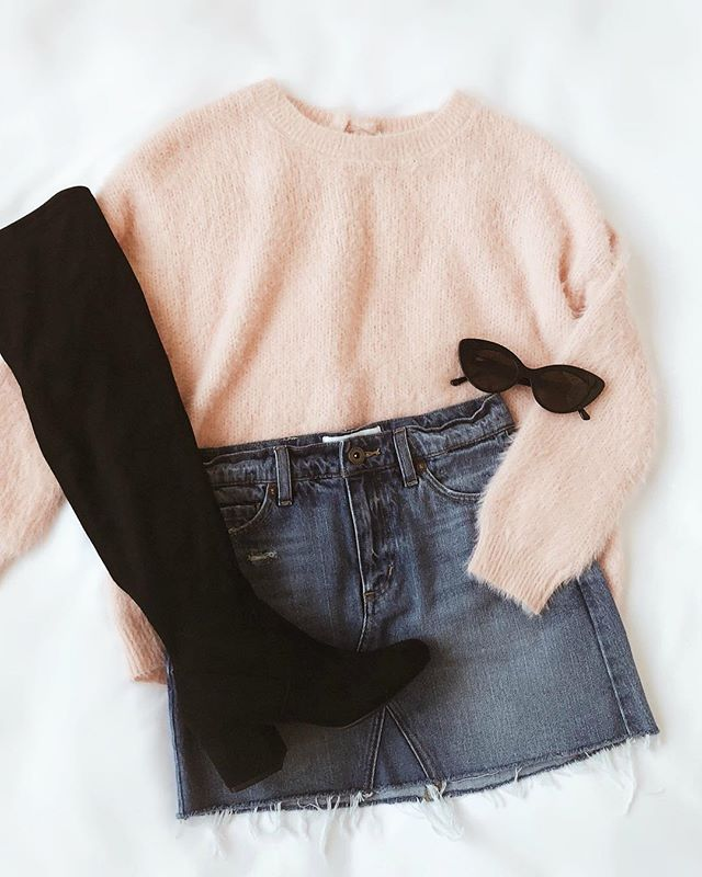 pale pink sweater