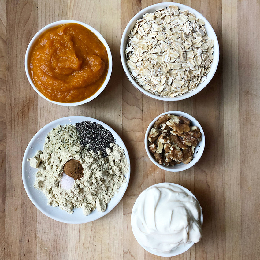 pumpkin pie overnight oats ingredients
