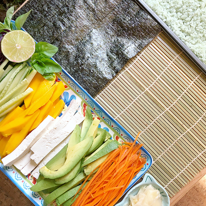 sushi ingredients and fillings