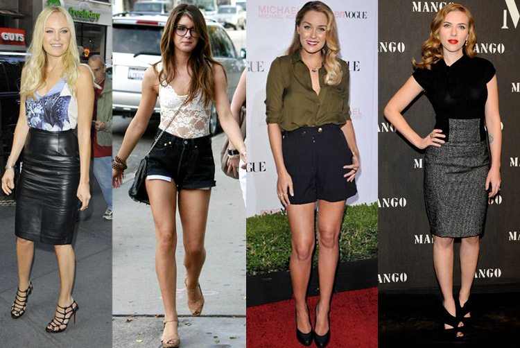How to wear shorts with heels