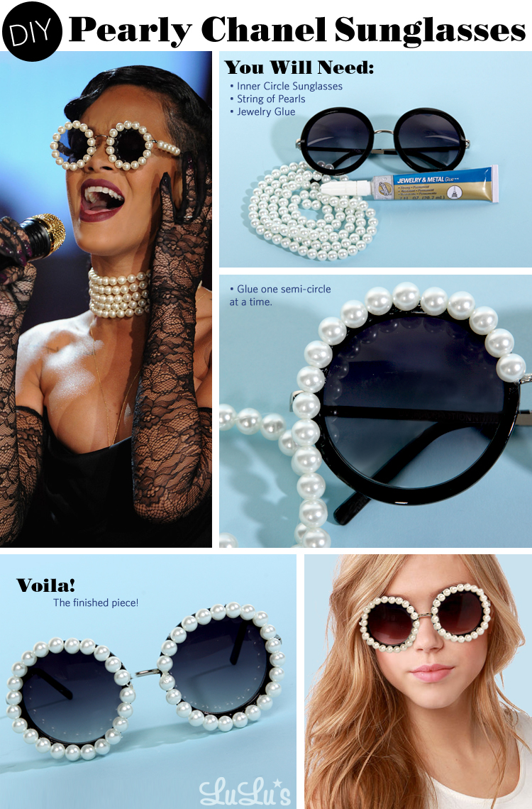1d098648990 DIY  Rihanna s Pearly Chanel Sunglasses - LuLu s Fashion Blog