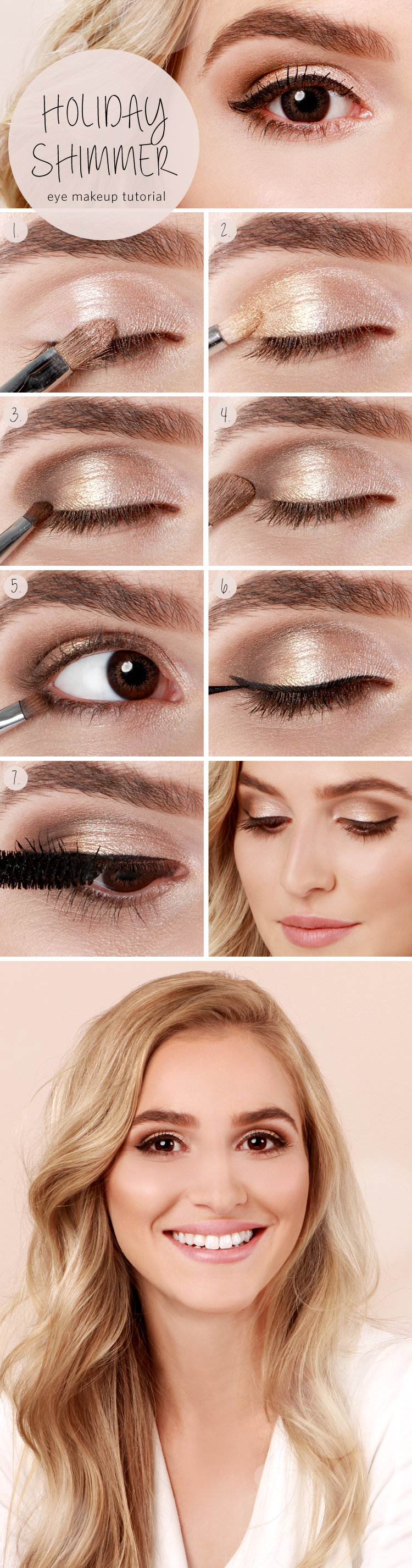Holiday Shimmer Eye Makeup Tutorial   Gorgeous & Easy Makeup Tutorials For Brown Eyes