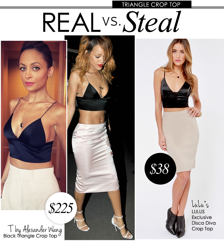 c2df6538251c9 Real vs. Steal  Alexander Wang Black Triangle Crop Top. BY Lulus.  RealVsSteal. T by Alexander Wang Black ...