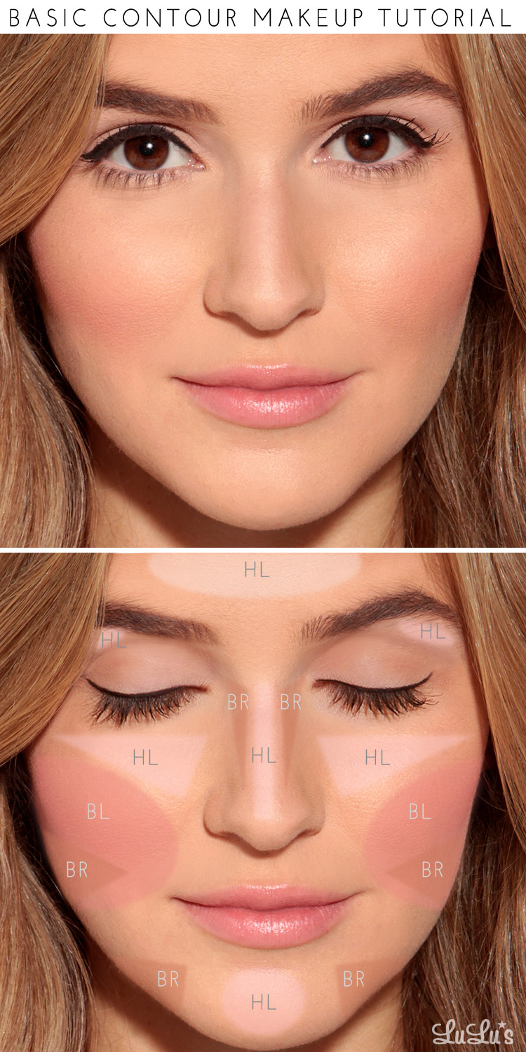 Lulus How-To: Basic Contour Makeup Tutorial