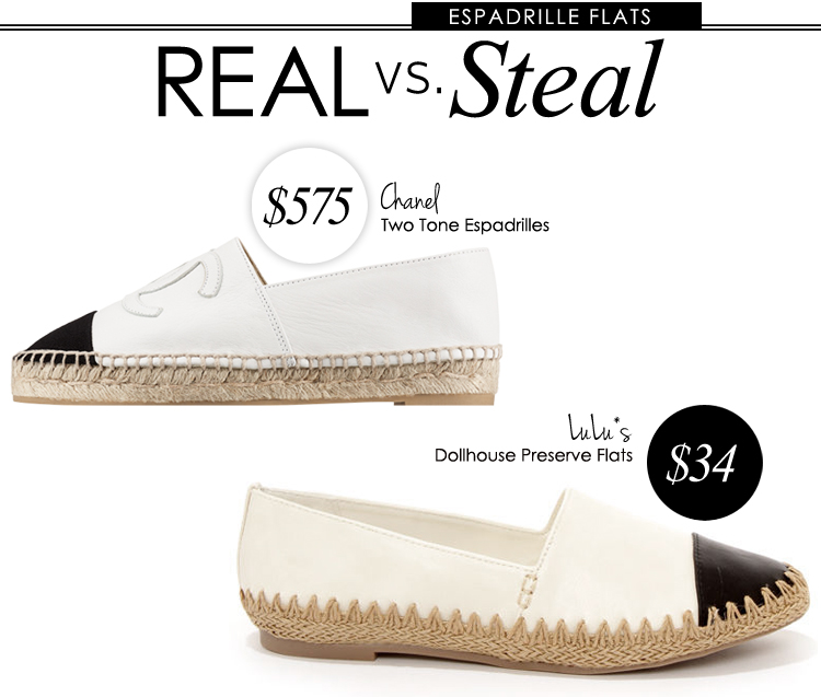 Real vs. Steal: Chanel Espadrilles