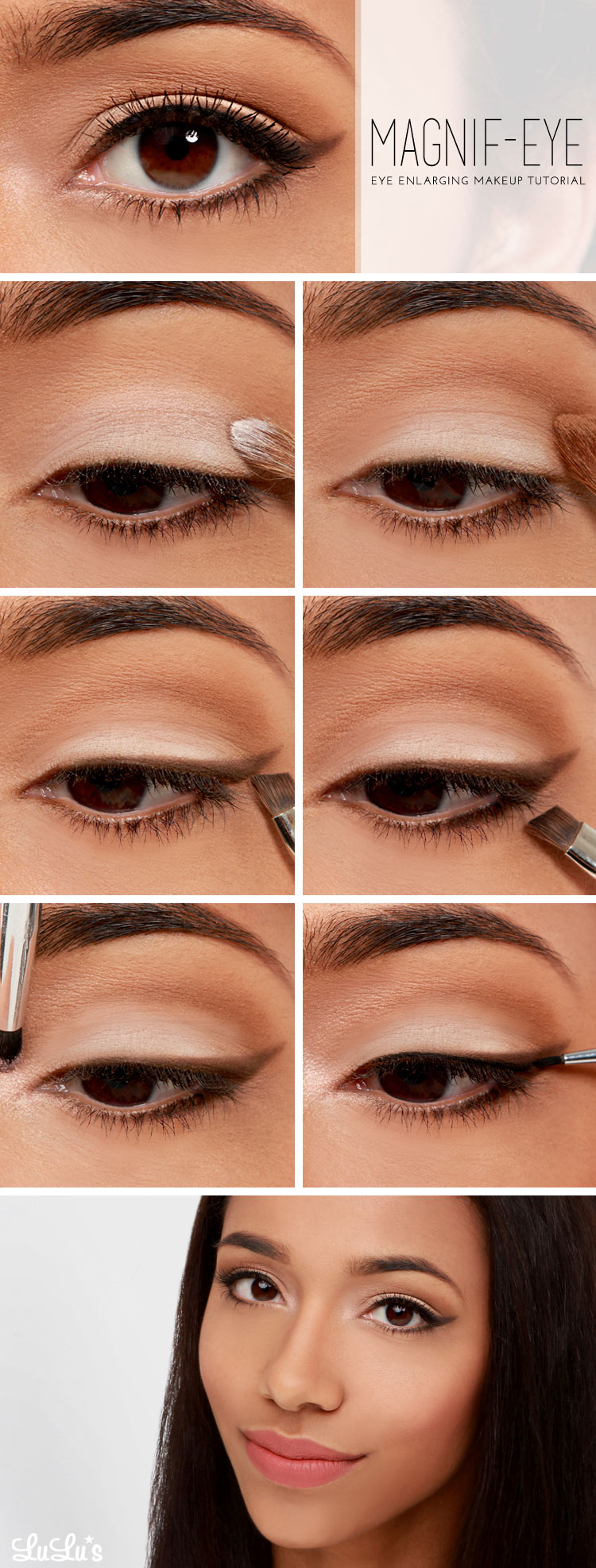 Eyeshadow Tutorial Videos: Lulus How-To: Eye Enlarging Makeup Tutorial