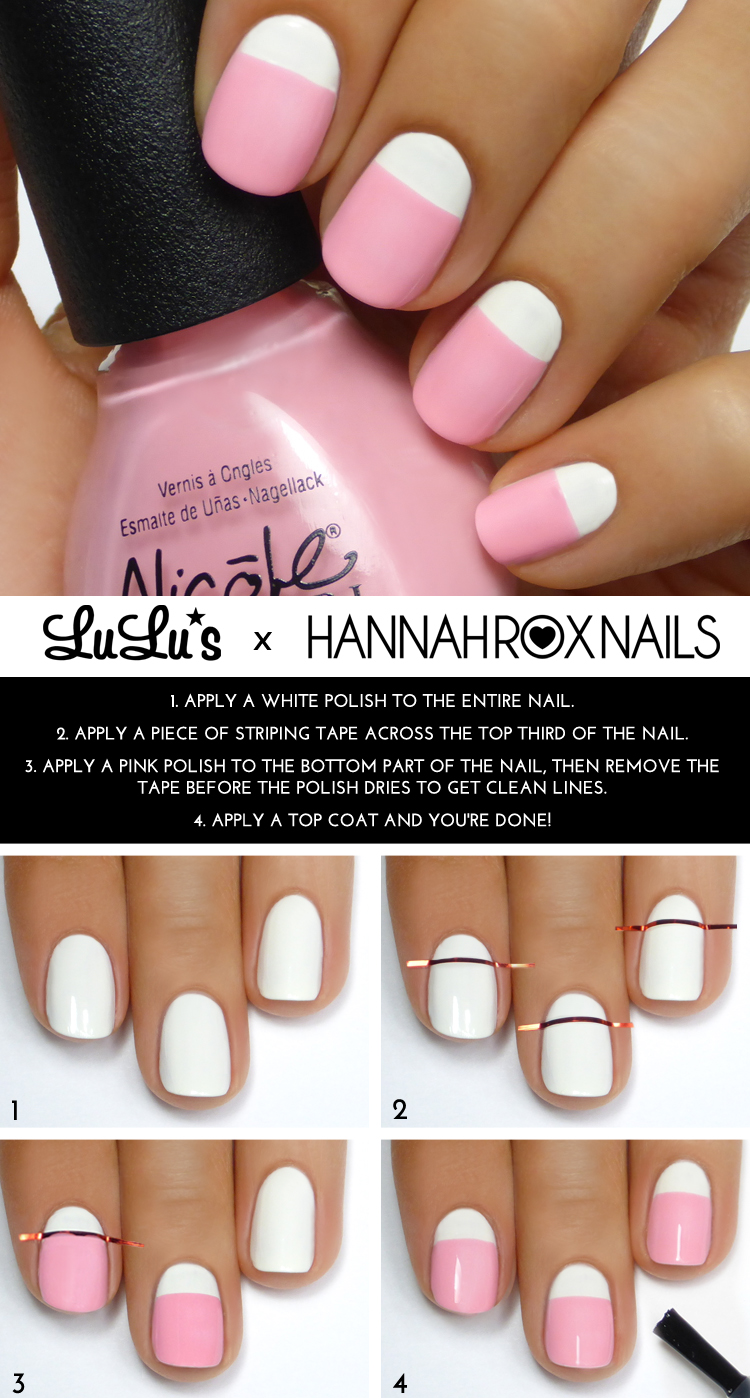 Mani Monday: Pastel Pink And White Mani Tutorial