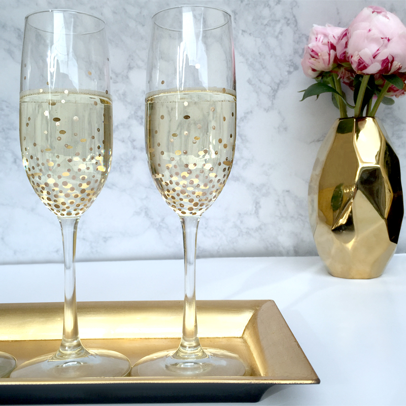 Well known DIY Gold Dot Champagne Flutes - Lulus.com Fashion Blog DB03