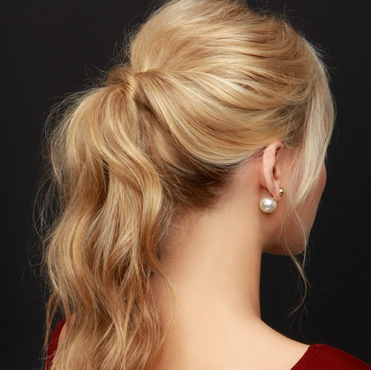 Outstanding Lulus How To Party Perfect Ponytail Hair Tutorial Lulus Com Hairstyles For Women Draintrainus