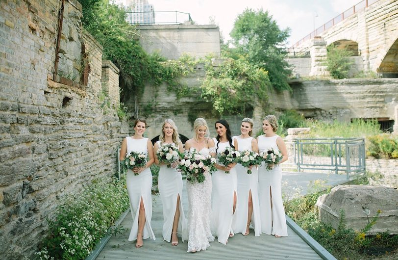 9673849b55a 7 Bridal Parties That Will Make You Fall in Love With the White ...
